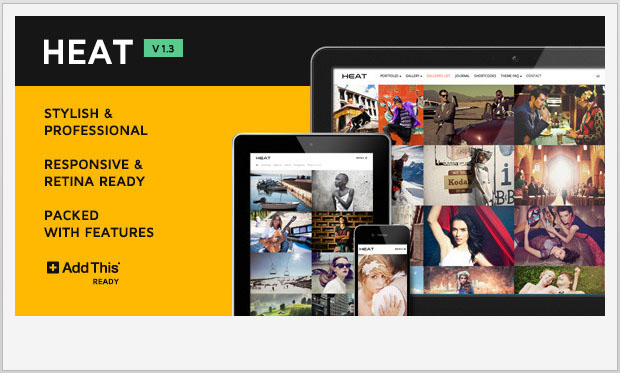 Heat -Responsive WordPress Theme for Photographers