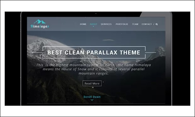 Himalayas - Single Page WordPress Themes