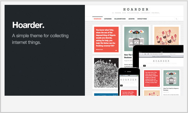 Hoarder -Best Responsive WordPress Theme for Bloggers