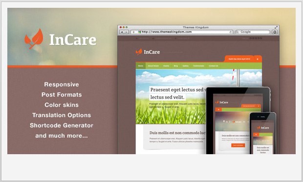 InCare - Responsive Non Profit WordPress Theme