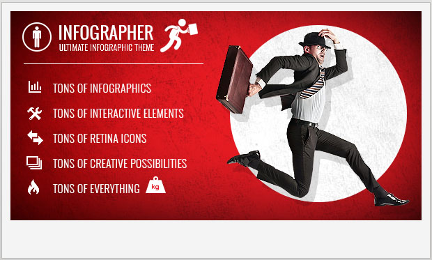 Infographer -Responsive Parallax WordPress Theme