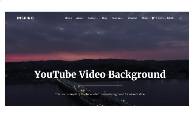 Inspiro - Photographer WordPress Themes