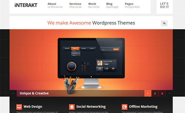 Interakt -Responsive Three Column WordPress Theme