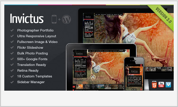 Invictus -Responsive WordPress Theme for Photographers