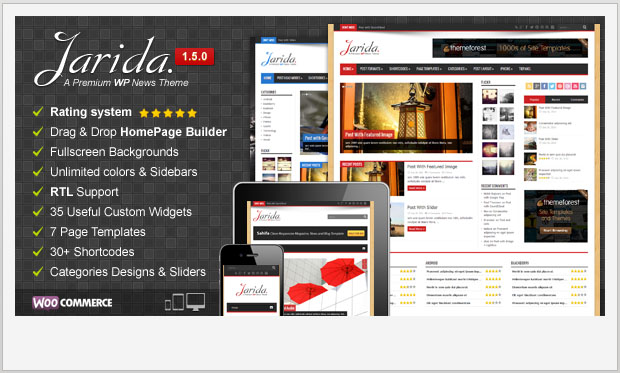 Jarida -Responsive Magazine Style WordPress Theme