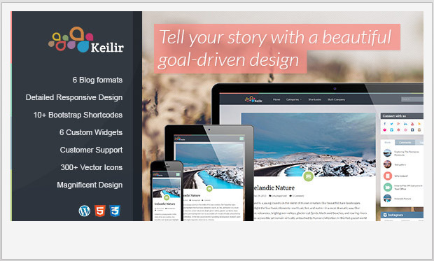 Keilir -Best Responsive WordPress Theme for Bloggers