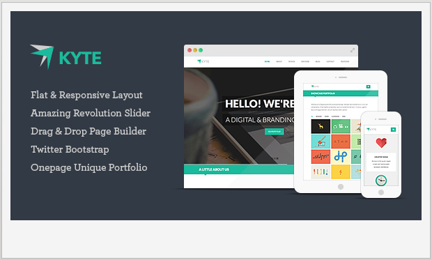 Kyte -Single Page WordPress Theme