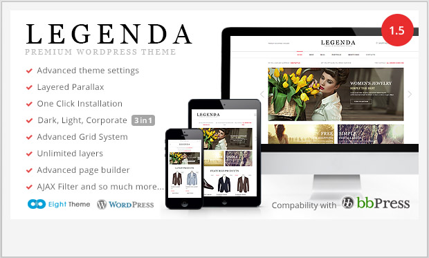Legenda -Responsive WooCommerce WordPress Theme