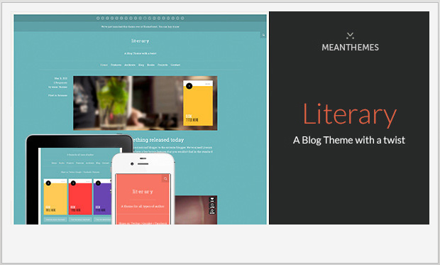 Literary -Best Responsive WordPress Theme for Bloggers