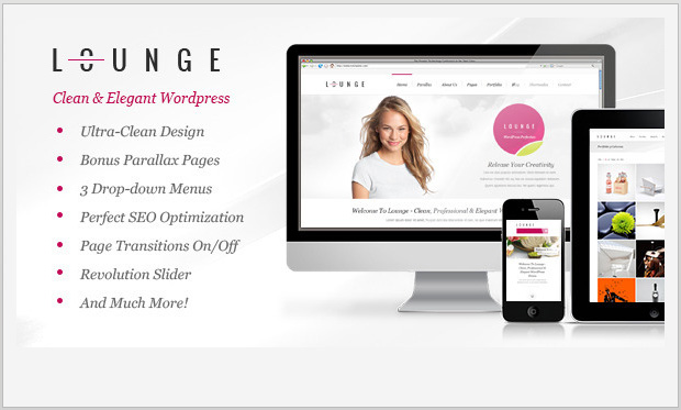 Lounge -Responsive Parallax WordPress Theme