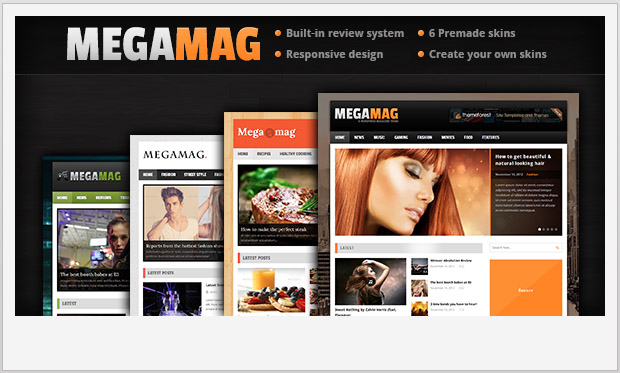MEGAMAG -Best Responsive WordPress Theme for Bloggers