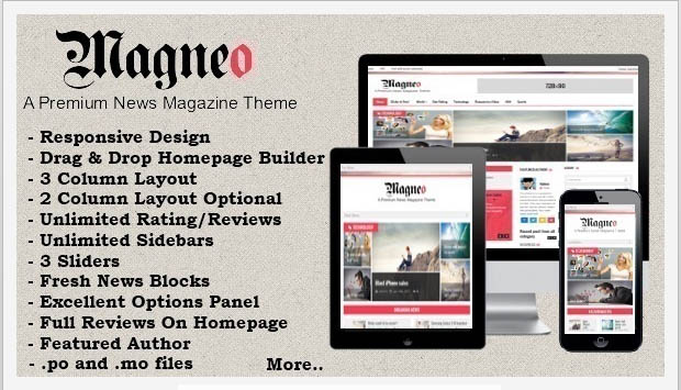 Magneo -Responsive Three Column WordPress Theme