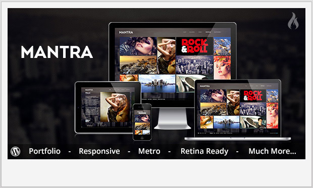 Mantra -Responsive Metro WordPress Theme