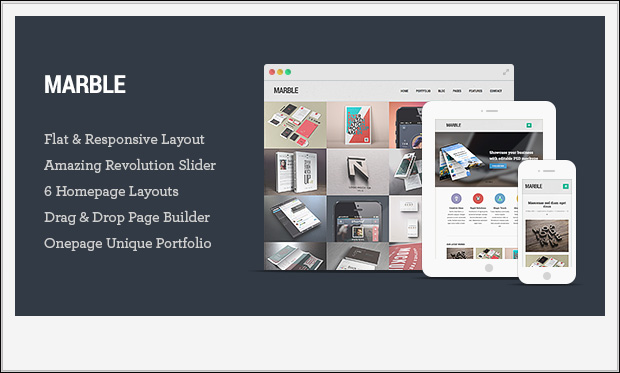 Marble -Responsive Three Column WordPress Theme