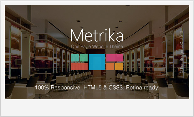 Metrika -Single Page WordPress Theme