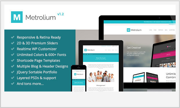 Metrolium -Responsive Metro WordPress Theme