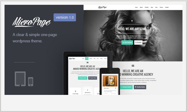 MicroPage -Single Page WordPress Theme