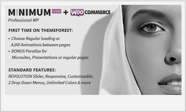 Minimum -Responsive Parallax WordPress Theme