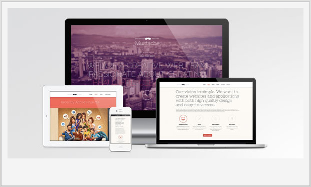 Mustache -Single Page WordPress Theme
