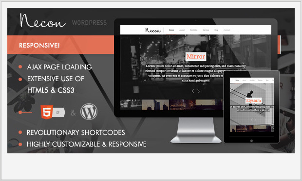 Necon WP -Single Page WordPress Theme