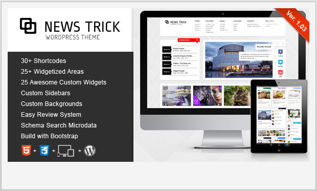 NewsTrick -Best Responsive WordPress Theme for Bloggers