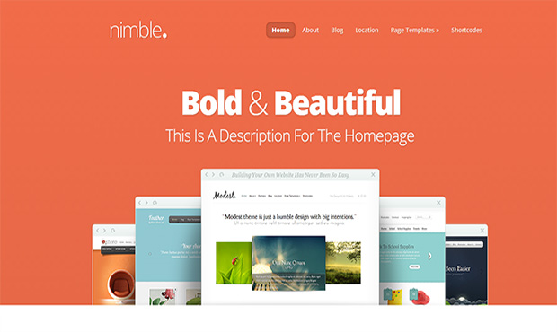 Nimble -Responsive Three Column WordPress Theme