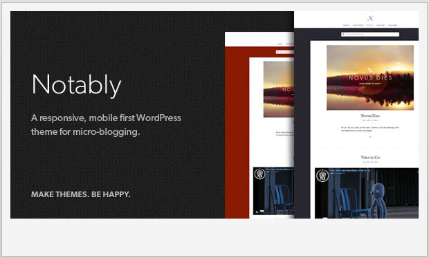 Notably -Best Responsive WordPress Theme for Bloggers