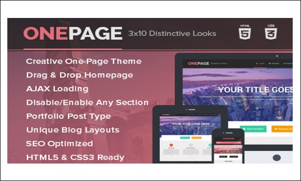 OnePage - Single Page WordPress Themes