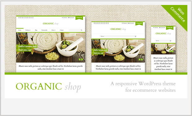 Organic Shop -Responsive WooCommerce WordPress Theme