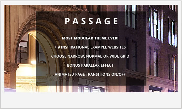 Passage -Responsive Parallax WordPress Theme