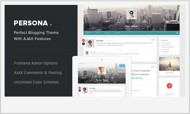 Persona -Best Responsive WordPress Theme for Bloggers