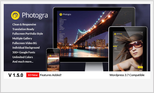 Photogra -Responsive WordPress Theme for Photographers