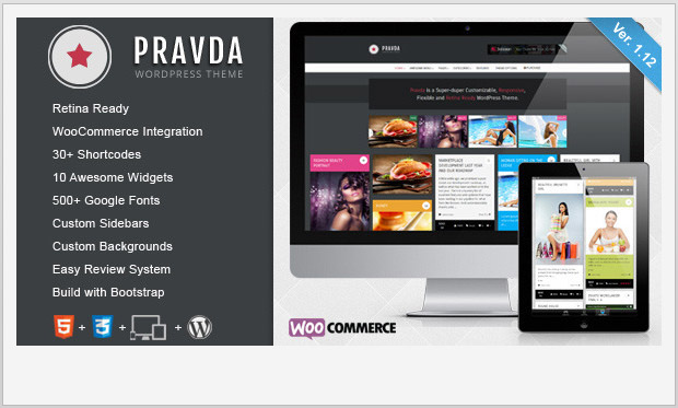Pravda -Best Responsive WordPress Theme for Bloggers