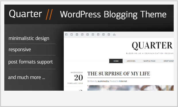 Quarter -Best Responsive WordPress Theme for Bloggers