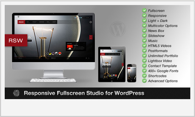 RSW -Responsive WordPress Theme for Photographers