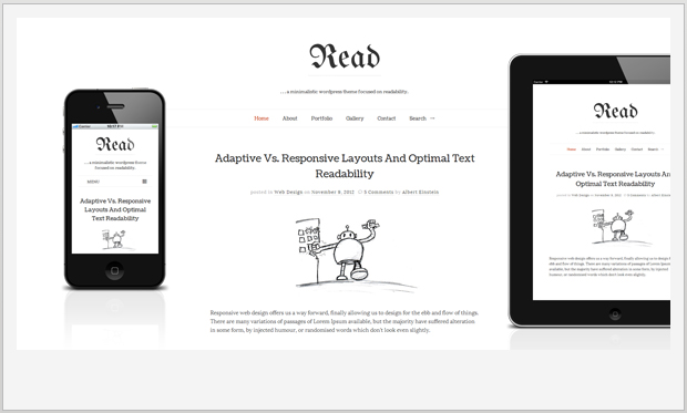 Read WP -Minimalist Responsive WordPress Theme