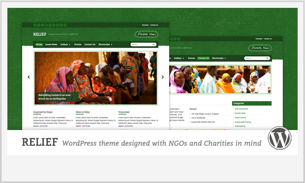 Relief -Responsive charity wordpress theme