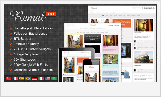 Remal -Best Responsive WordPress Theme for Bloggers