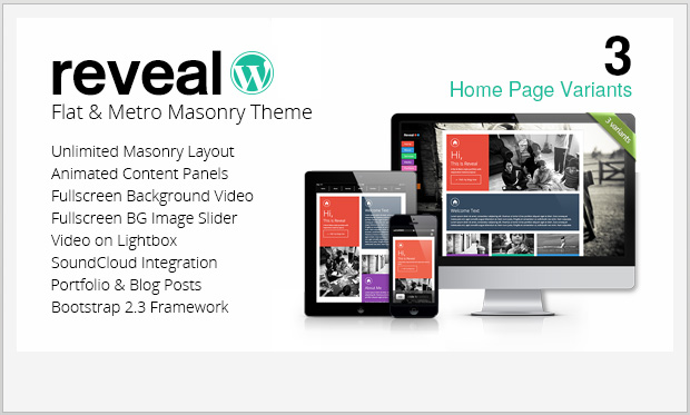 Reveal -Responsive Metro WordPress Theme