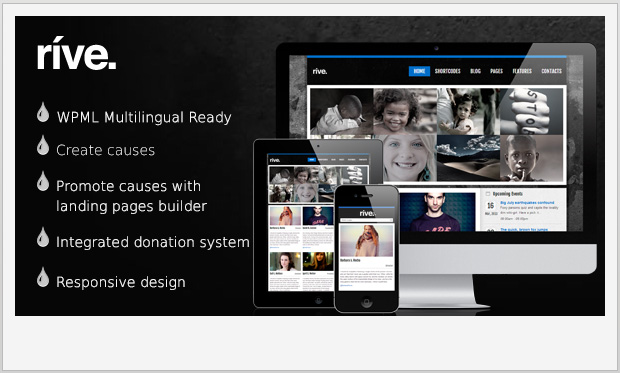 Rive -Responsive charity wordpress theme