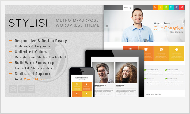 STYLISH -Responsive Metro WordPress Theme