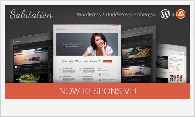 Salutation -Responsive Buddypress WordPress Theme