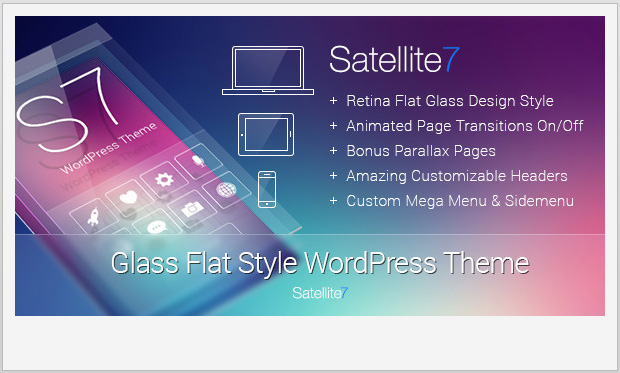 Satellite7 -Responsive Parallax WordPress Theme