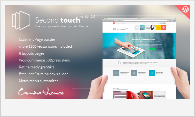 Second Touch -Responsive Metro WordPress Theme