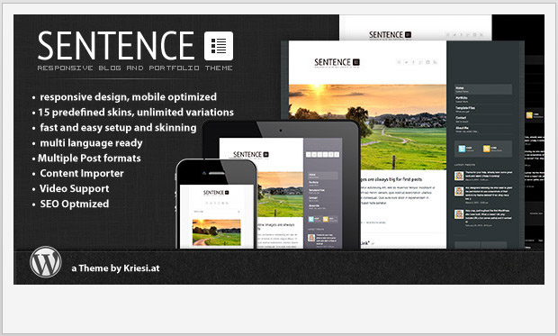 Sentence -Best Responsive WordPress Theme for Bloggers