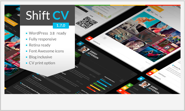 ShiftCV -Best Responsive WordPress Theme for Bloggers