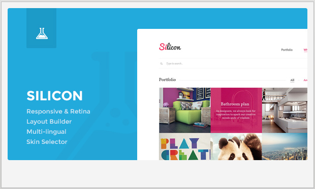 Silicon -Minimalist Responsive WordPress Theme