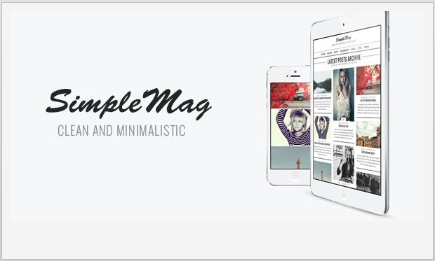 SimpleMag -Responsive Magazine Style WordPress Theme