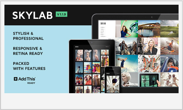 Skylab -Responsive WordPress Theme for Photographers