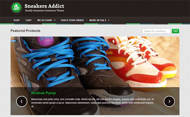 Sneakers Addict -Responsive Three Column WordPress Theme